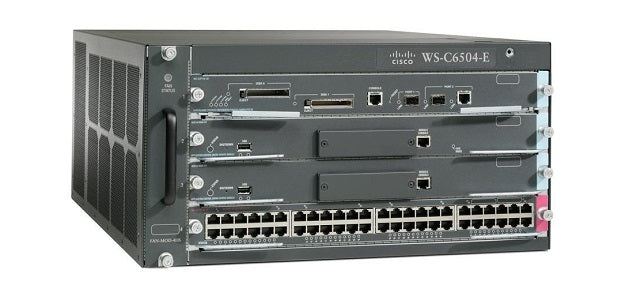 WS-C6504E-S32-10GE Cisco Catalyst 6504E Network Switch Chassis (New)