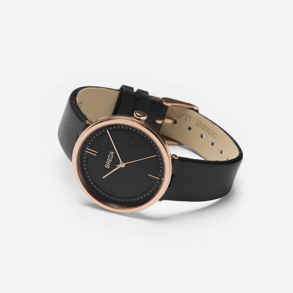 AGNES 1733B Rose Gold/Black