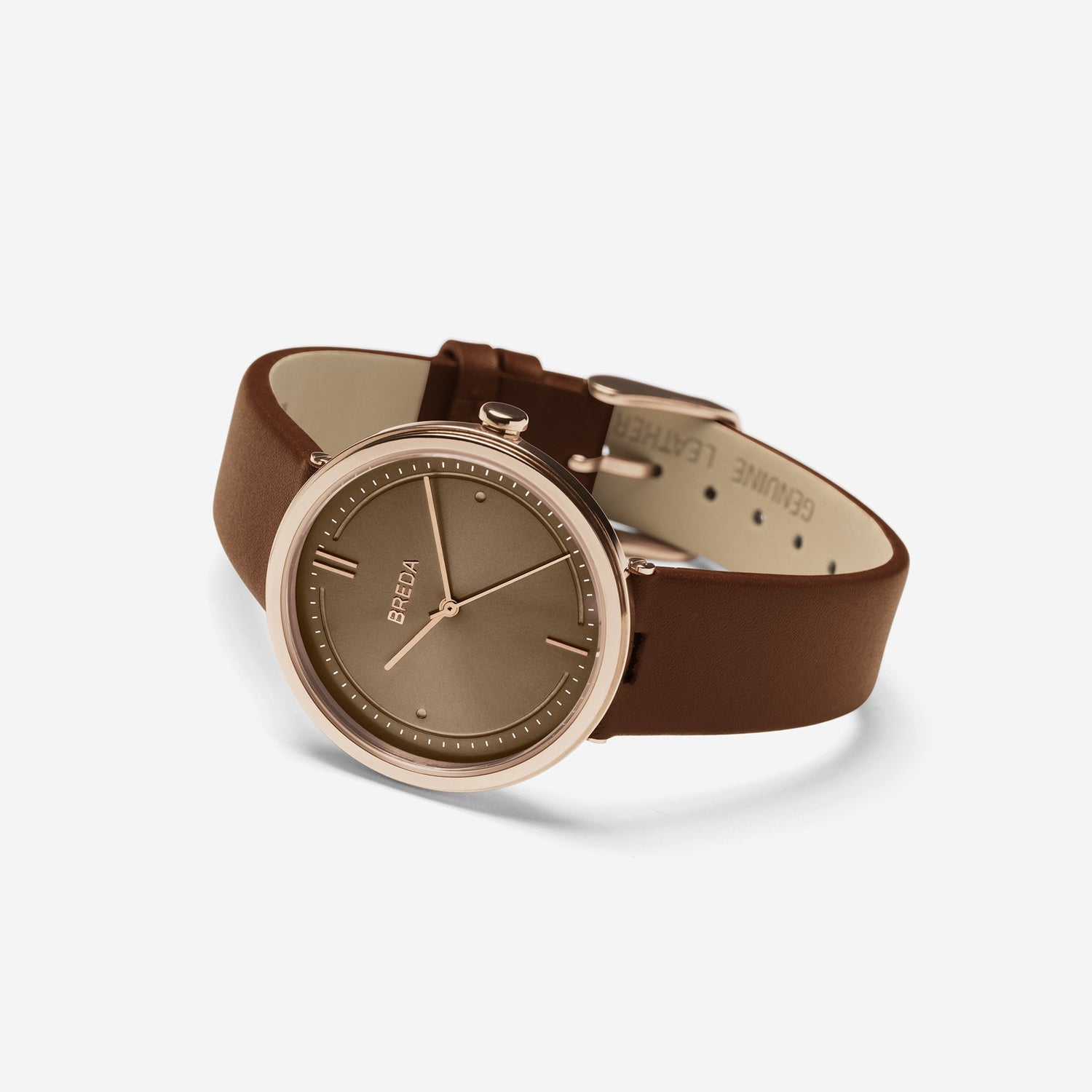 AGNES 1733D Rose Gold/Brown