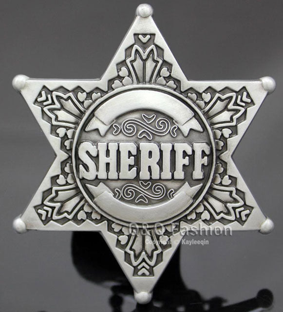 SHERIFF BADGE BELT BUCKLE