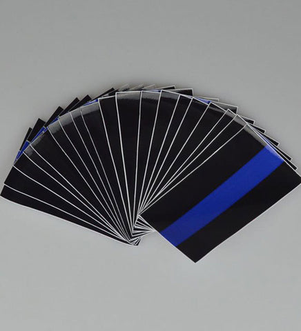 SINGLE LINE THIN BLUE LINE FLAG DECAL STICKER