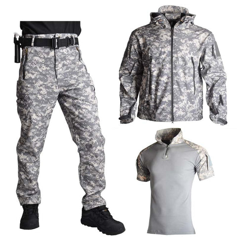 Shark Skin Soft Shell Jacket Pants Shirts Military Uniform Camouflage Tactical Suit Army Clothes Hiking Jackets Waterproof