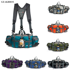 Outdoor Sports Waist Bags Hiking Cycling Climbing Backpack Bicycle Pack Running Water Bottle 800D Waterproof Nylon Mountain Pack