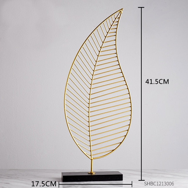 Nordic Creative modern Plant ornament bedroom home decoration accessories for living room Gold Iron Shape crafts Desktop decor
