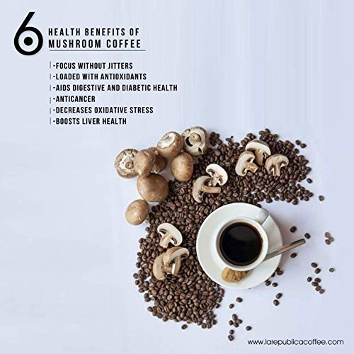 Forager Organic 7 Mushroom Coffee Blend for Energy Focus & Health