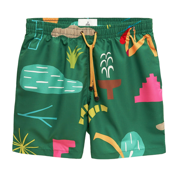 LONG PREP IPANEMA GREEN TIMO TRUNKS