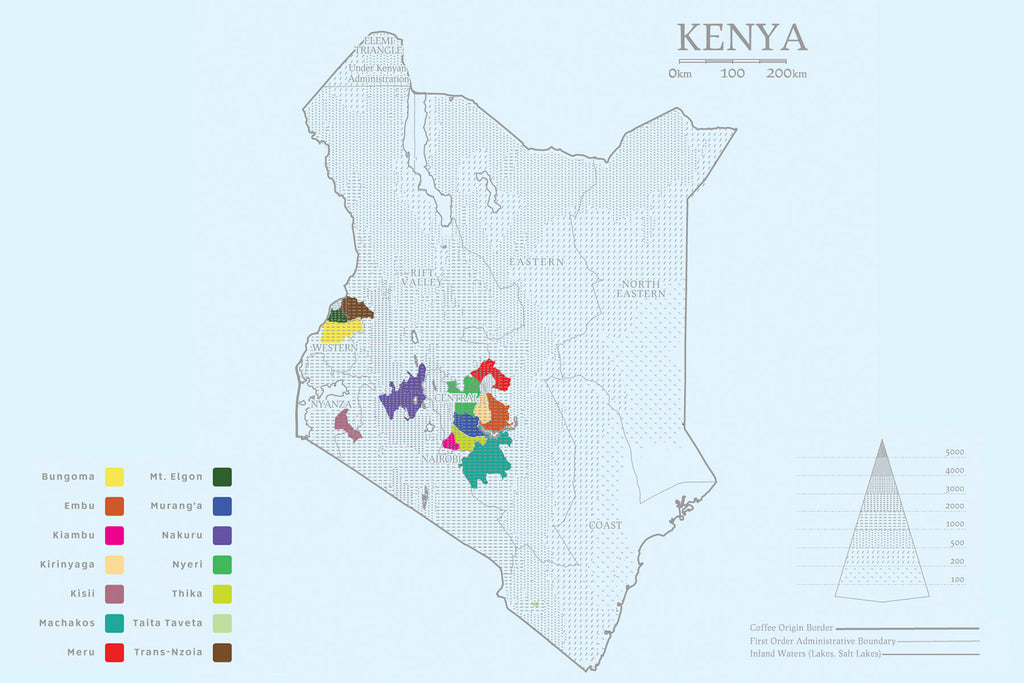 Kenya Green Coffee Growing Regions