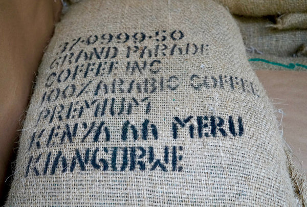 Kenya AA Meru Kiangurwe single origin green coffee in grain pro