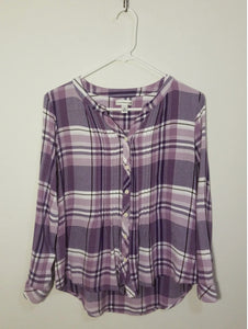 Croft & Barrow Plaid Top - M