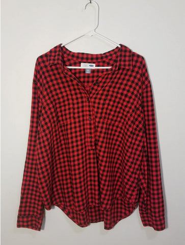 Old Navy Plaid Top - XXL