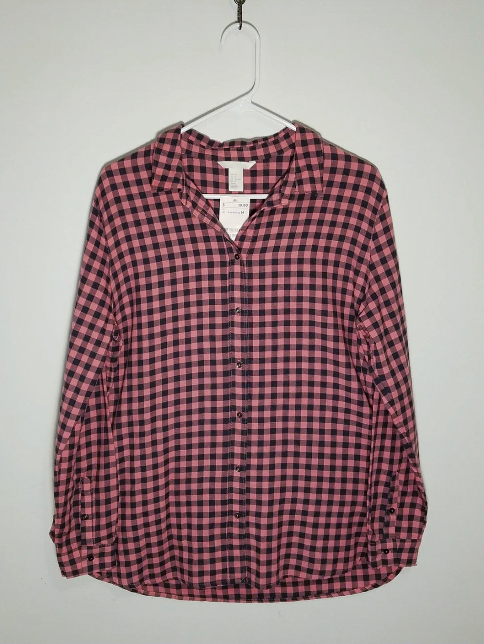H&M Plaid Top - 14