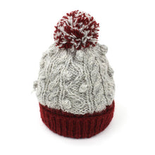 Load image into Gallery viewer, Cable Knit Bobble Hat
