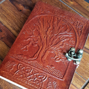 Leather Tree Of Life  Journal