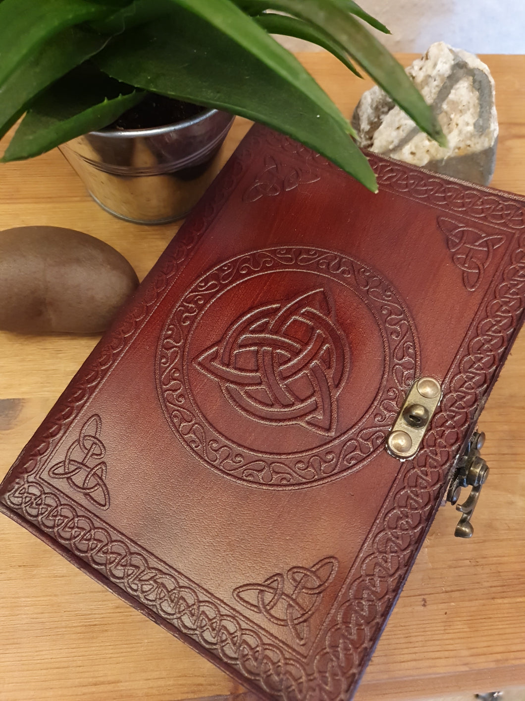 Leather Triquetra Journal