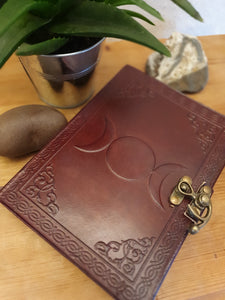 Leather Triple Moon Journal