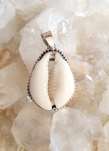 Conch Shell Pendant set in 925 Silver