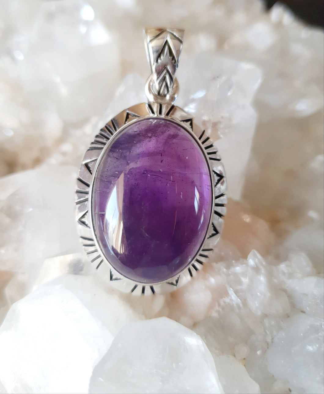 Amethyst Pendant set in 925 Silver