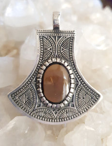 Smoky Quartz Pendant set in 925 Silver
