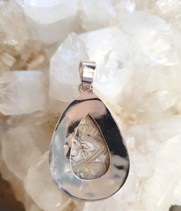 Crazy Lace Agate Pendant set in 925 Silver