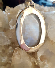 Load image into Gallery viewer, Rainbow Moonstone Pendant set in 925 Silver
