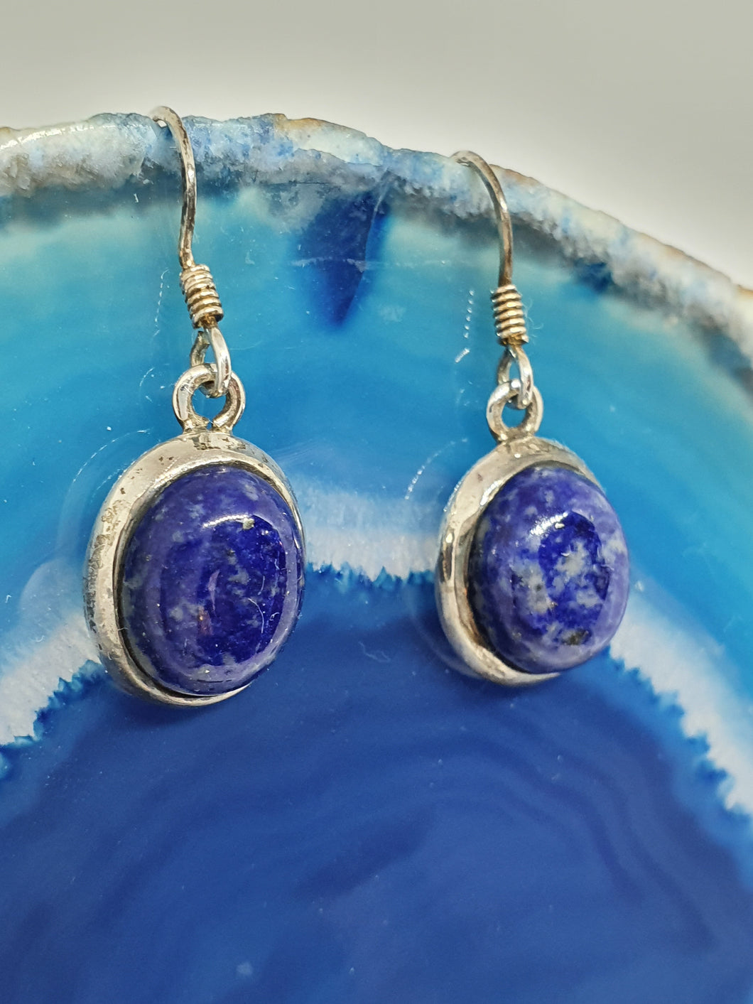 Lapis Lazuli Earrings set in 925 Silver
