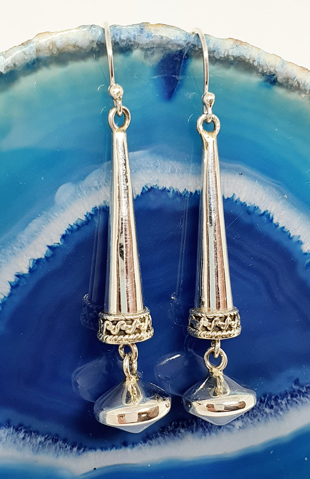 Indian Style Earrings in 925 Silver