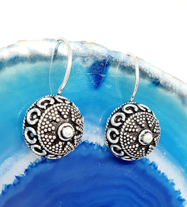 India Style Earrings in 925 Silver