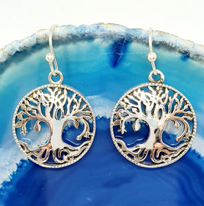 Tree of Life Earrings in 925 Silver