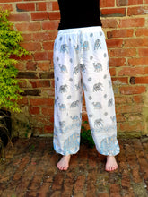Load image into Gallery viewer, Harem Gold Block Print Pants
