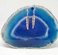 Load image into Gallery viewer, Silver Feather Earrings in 925 Silver