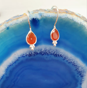 Dainty Carnelian Earrings from www.karmaripon.co.uk