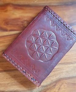 Leather Flower of Life Journal