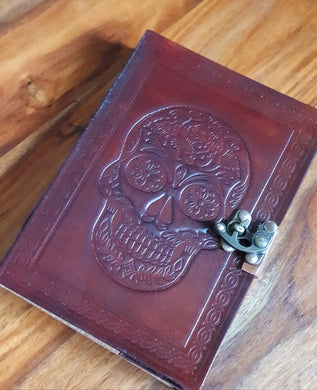 Leather Sugar Skull Journal