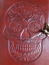 Load image into Gallery viewer, Leather Sugar Skull Journal