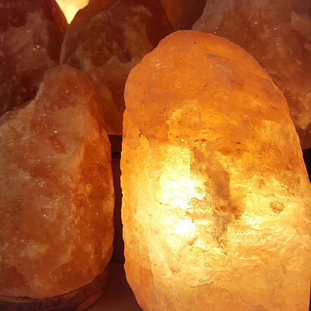 2-3kg Himalayan Salt Crystal Lamp with an attached wooden base