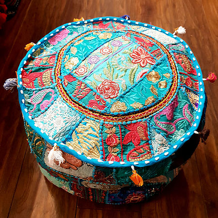Pink Indian Pouffe