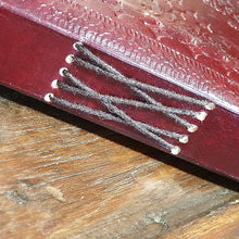 Load image into Gallery viewer, Large 7 Stone Leather Chakra Journal