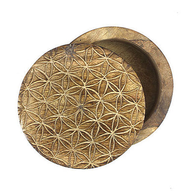 Flower of Life Wood Box