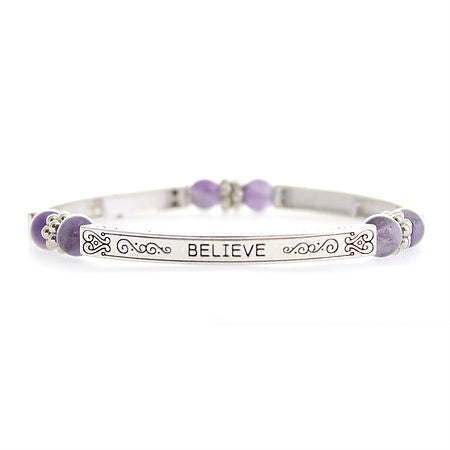 Believe Sentiment Bracelet