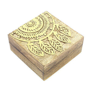 Gold Embossed Wooden Dreamcatcher Box