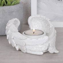 Load image into Gallery viewer, Glittery Angel wing Tealight Holder