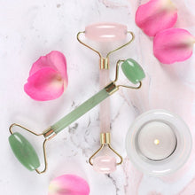 Load image into Gallery viewer, Rose Quartz  Dual Ended Facial Roller