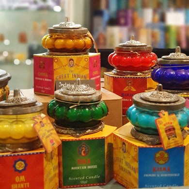 Great Indian Caravan Candles in Glass