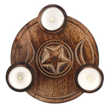 Load image into Gallery viewer, Triple Moon Tealight Holder