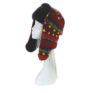 Brightly Coloured Sherpa Hat