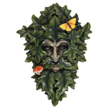 Load image into Gallery viewer, Leafy Green Man Wall Plaque with Butterfly