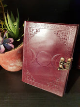 Load image into Gallery viewer, Leather Triple Moon Journal