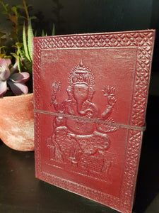 Leather Ganesh Journal