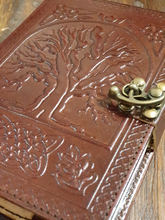Load image into Gallery viewer, Refillable Tree of Life Leather Journal with Extra Refill