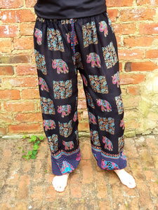 Harem Gold Block Print Pants